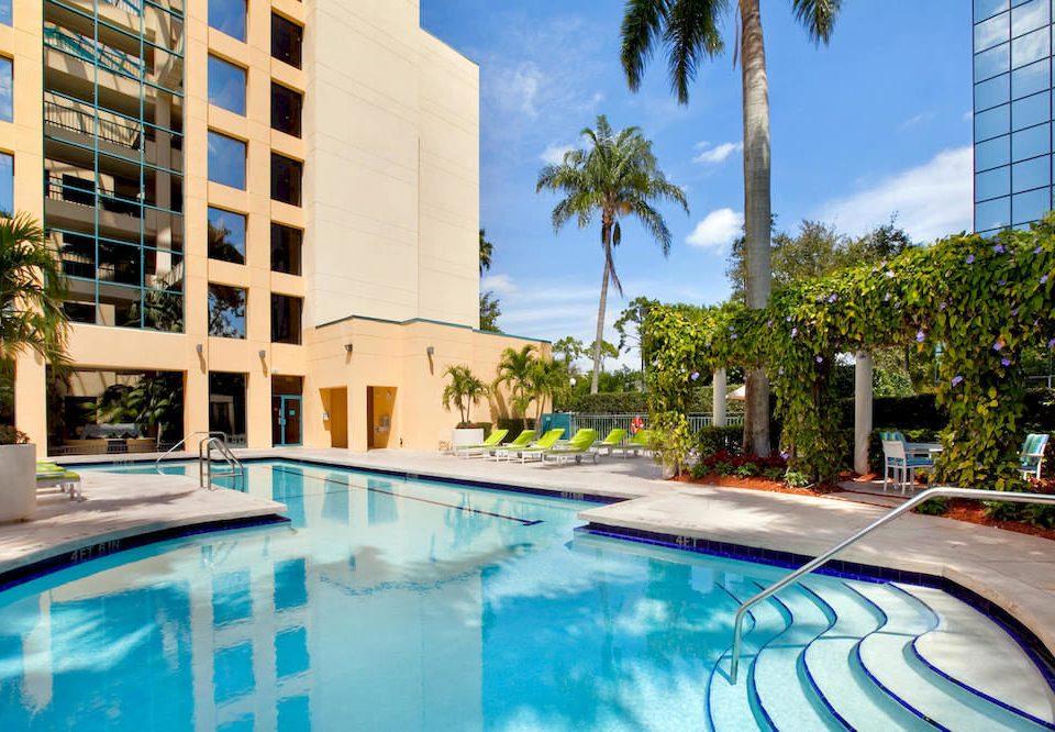 Exterior Family Pool building condominium swimming pool leisure property Resort home backyard