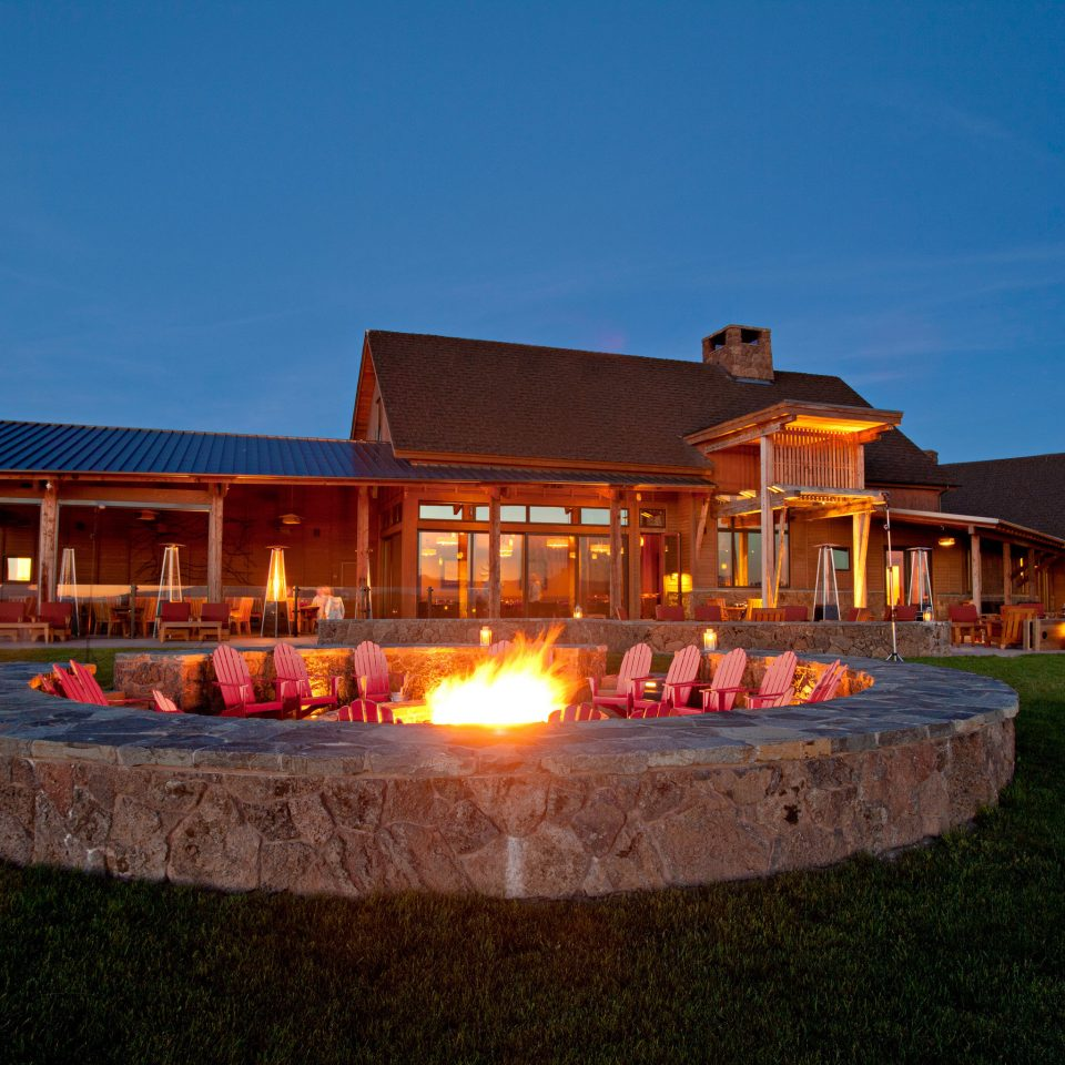 Exterior Family Travel Firepit Grounds Lounge Ranch Rustic Trip Ideas sky grass house Resort home hacienda Villa