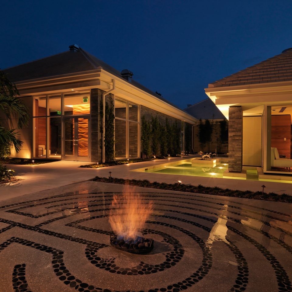 Exterior Firepit Grounds Outdoors sky building property house home residential area lighting mansion landscape lighting Resort backyard outdoor structure
