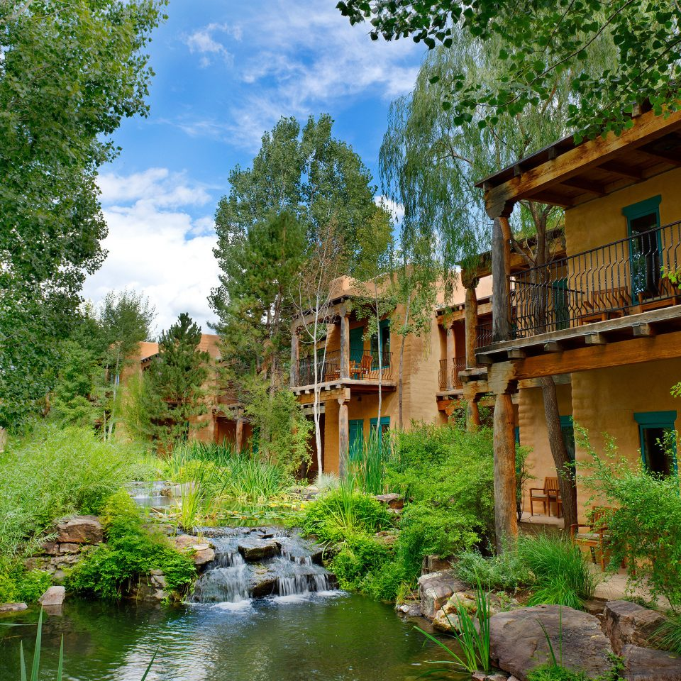 Exterior Grounds Hip Natural wonders Nature Outdoors Rustic tree house Village River rural area Jungle flower Garden old stone pond surrounded