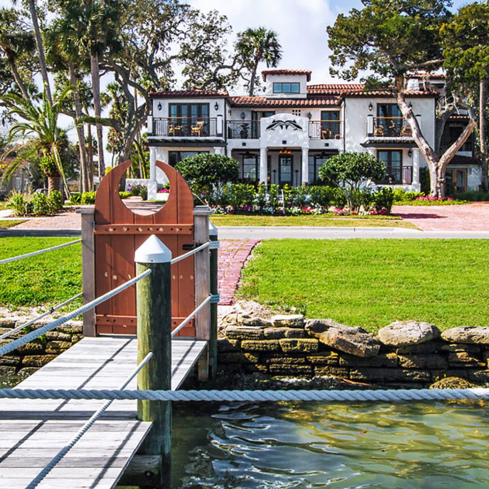 Exterior Grounds Waterfront tree grass water house Garden walkway backyard home waterway flower yard water feature travel old surrounded