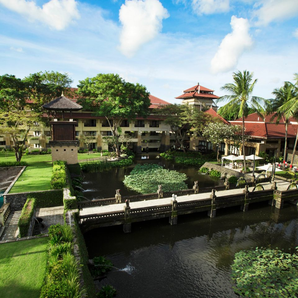 Exterior Resort sky water River green Town Village flower waterway Garden