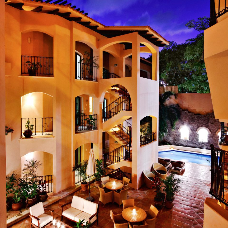 Exterior Grounds Patio Pool property home Resort restaurant Villa mansion living room hacienda