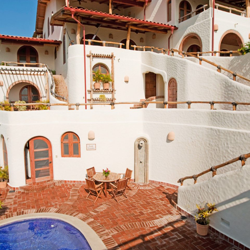 Exterior Hot tub Hot tub/Jacuzzi Luxury Rustic Tropical Villa property house mansion home hacienda