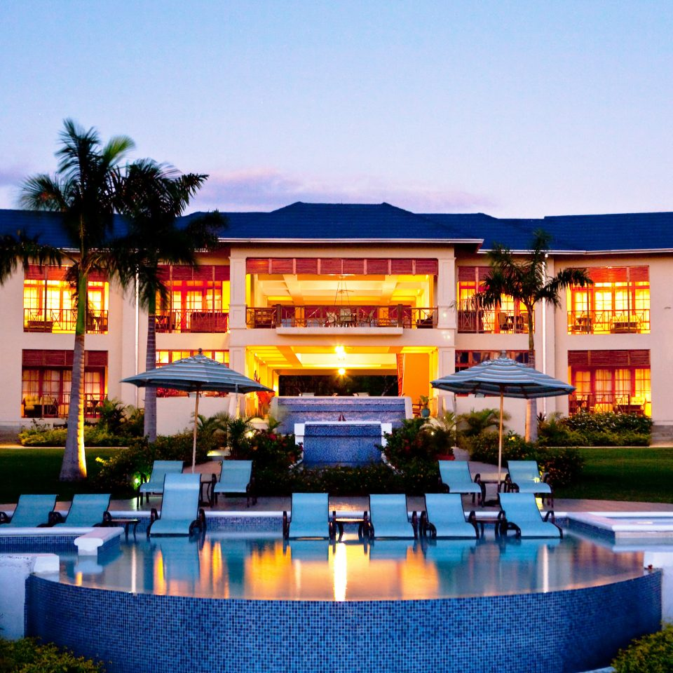 Exterior Island Patio Pool Terrace Tropical sky leisure building Resort plaza home convention center swimming pool palace sign