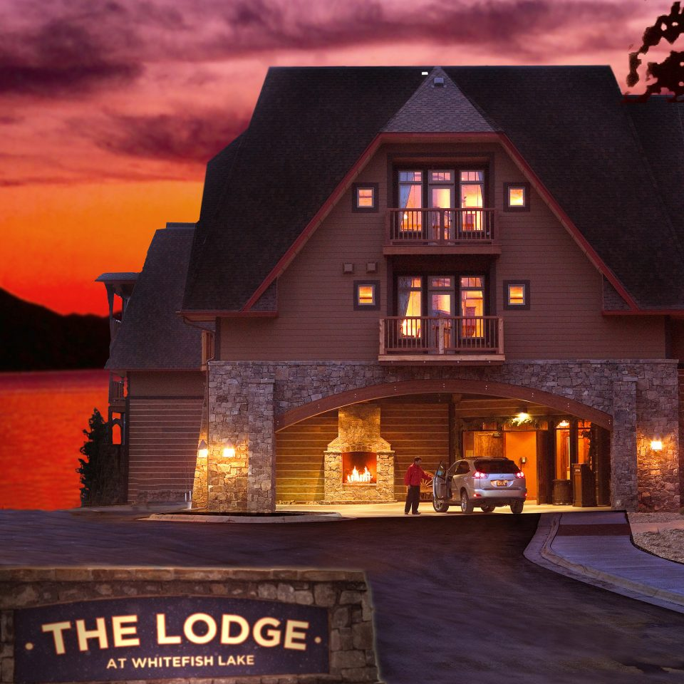 Exterior Lodge Rustic house night home evening screenshot