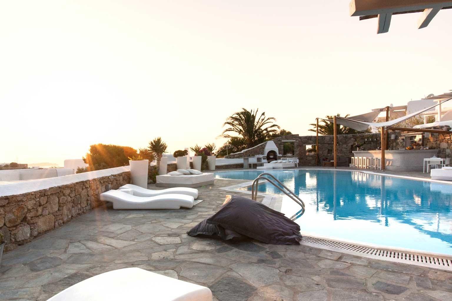 Exterior Lounge Luxury Modern Pool swimming pool property leisure Resort Villa backyard home stone