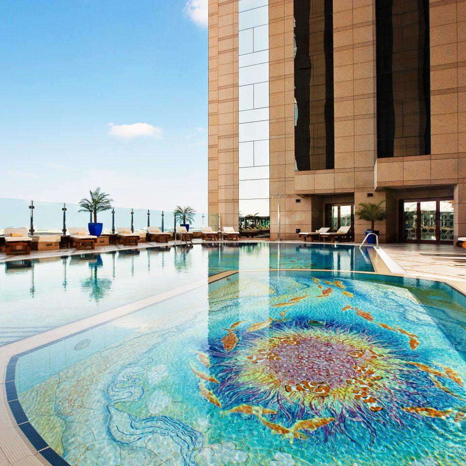 Exterior Lounge Luxury Modern Pool sky swimming pool leisure building Resort reflecting pool resort town Water park swimming
