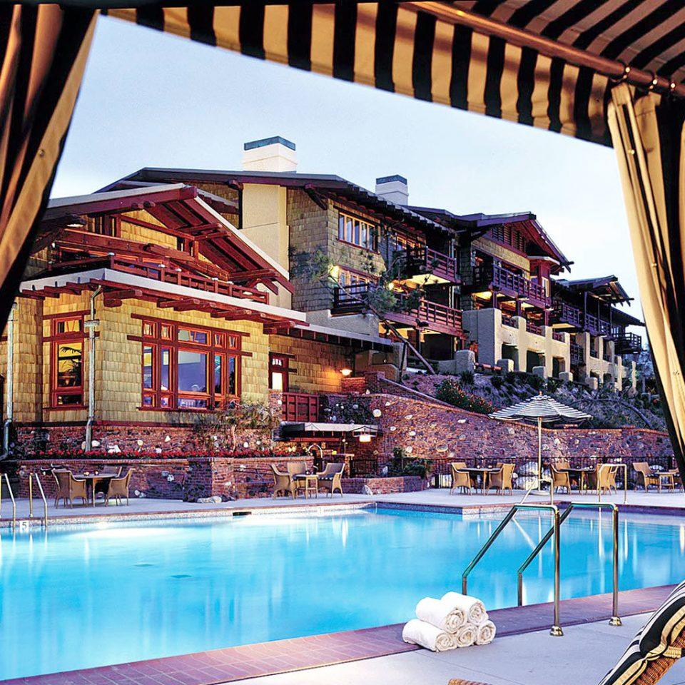 Exterior Lounge Luxury Pool building leisure Resort swimming pool bridge restaurant