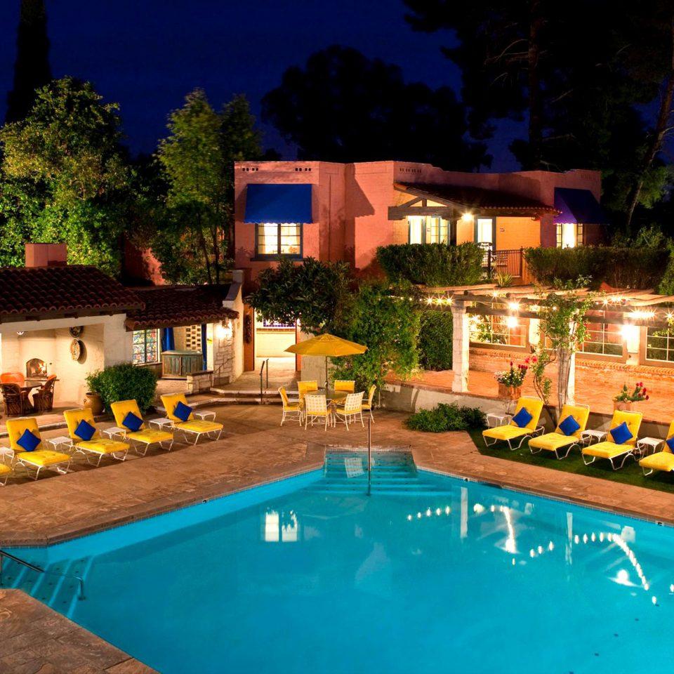Exterior Lounge Luxury Pool tree swimming pool leisure Resort property Villa resort town backyard mansion hacienda