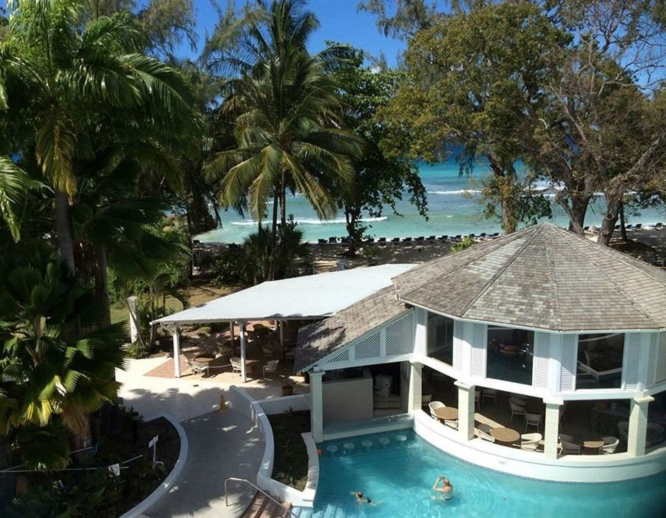 Exterior Luxury Pool Tropical tree Resort property swimming pool building Water park caribbean Villa palm