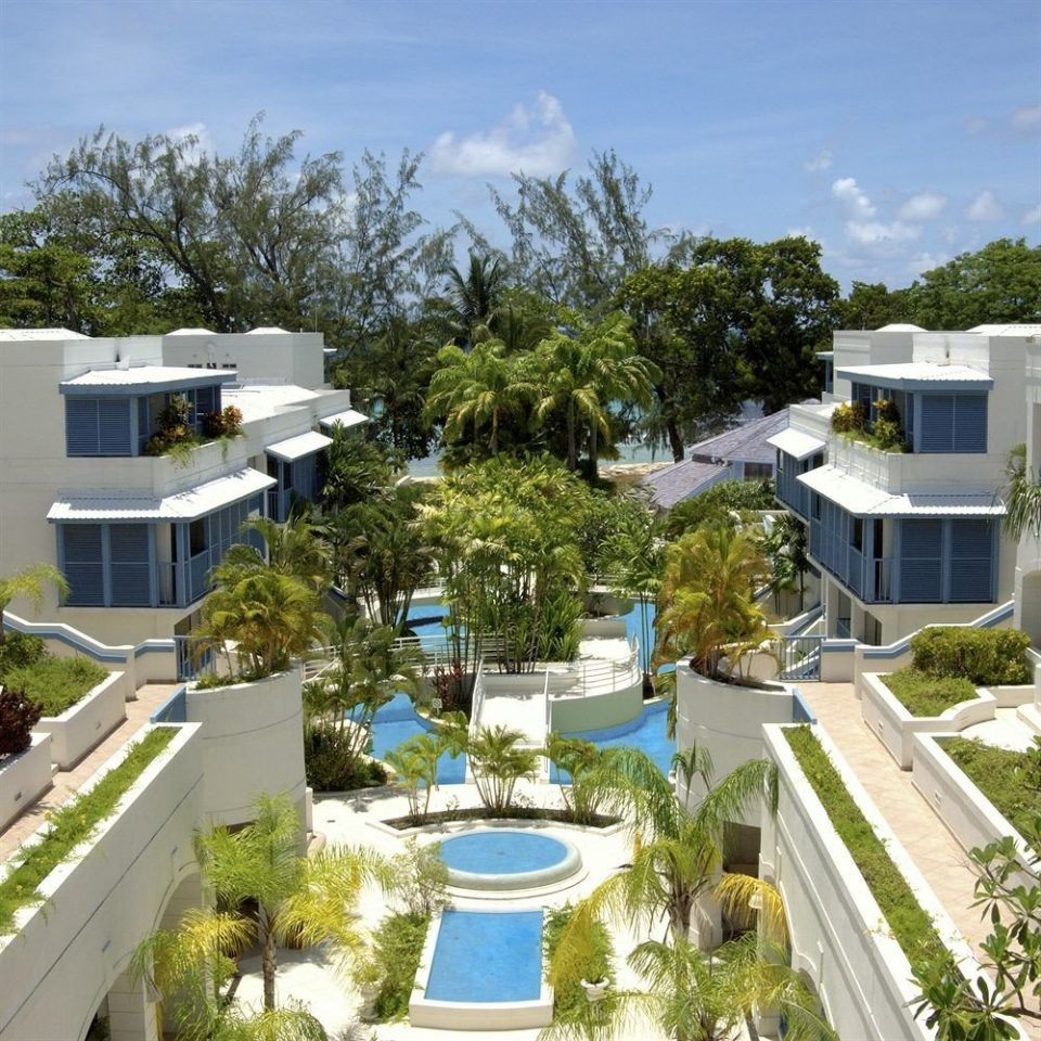 Exterior Luxury Pool Tropical tree property condominium Resort residential area neighbourhood home Villa plaza swimming pool trailer