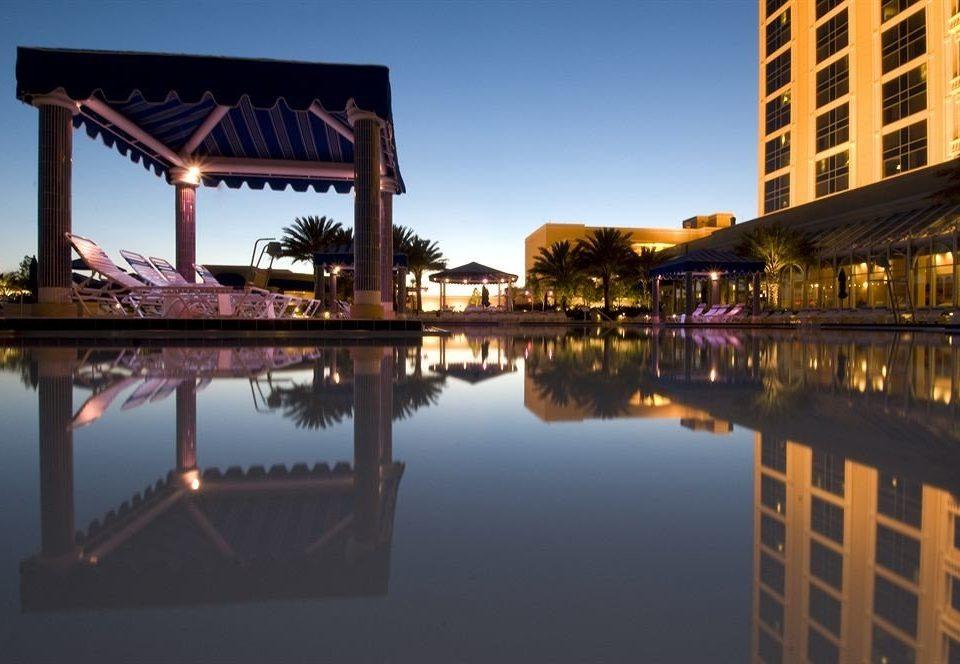 Exterior Pool Resort sky water landmark building River evening waterway dusk cityscape bridge dock