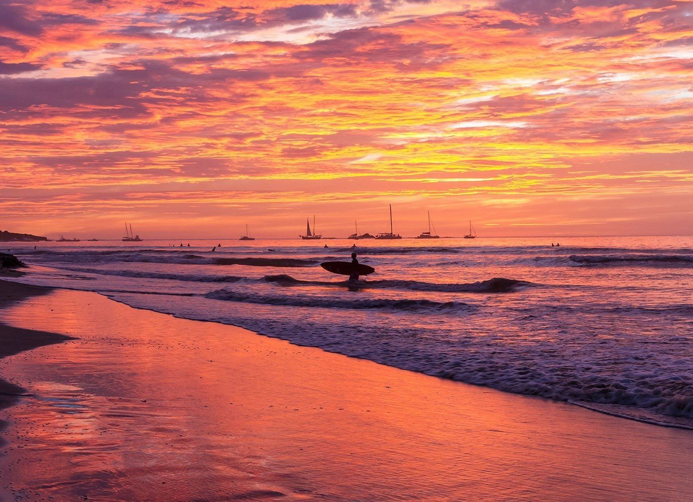 Trip Ideas water outdoor Sunset sky shore Sea sunrise Sun Beach afterglow horizon body of water Ocean dawn Coast cloud pier scene dusk wave evening morning reflection wind wave Nature setting sand