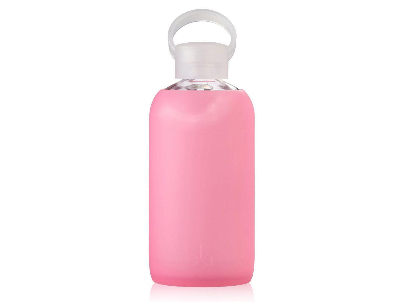 Health + Wellness Travel Tips toiletry pink bottle drinkware product glass bottle magenta plastic bottle tableware