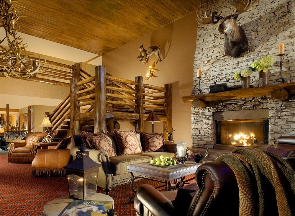 Family Fireplace Lodge Lounge sofa property living room home cottage mansion