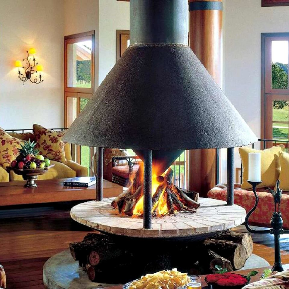 Family Fireplace Lounge Luxury Resort Rustic sofa home living room restaurant leather