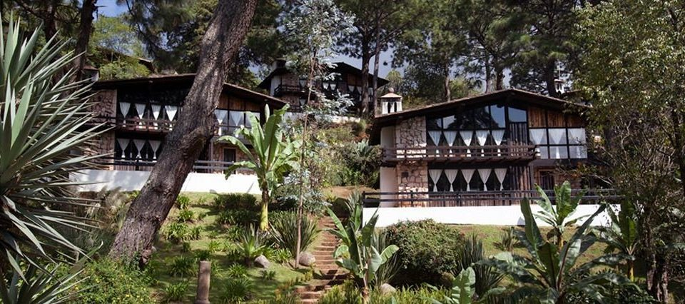 Family Resort tree building property house home cottage Jungle mansion eco hotel tree house Villa rainforest Garden plant bushes surrounded shade stone