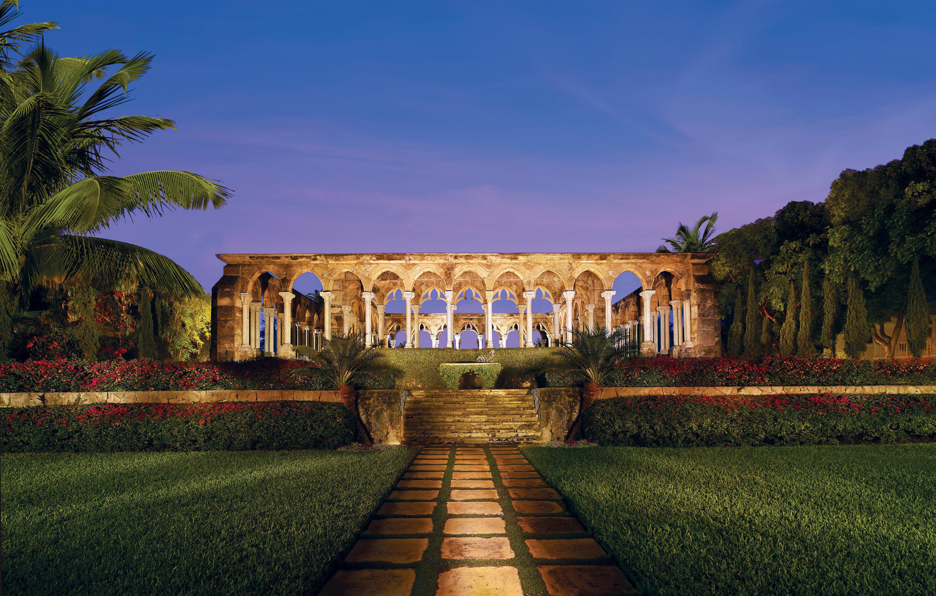 Family Grounds grass sky landmark evening palace mansion stone