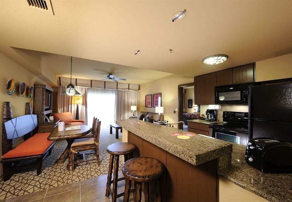 Family Resort Suite Kitchen property home living room condominium hardwood cottage Villa stainless appliance Island