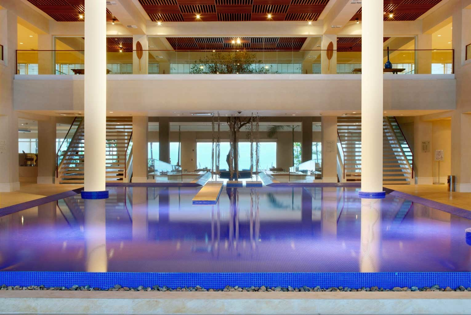 Family Play Pool Resort swimming pool leisure building leisure centre plaza convention center Lobby shopping mall empty