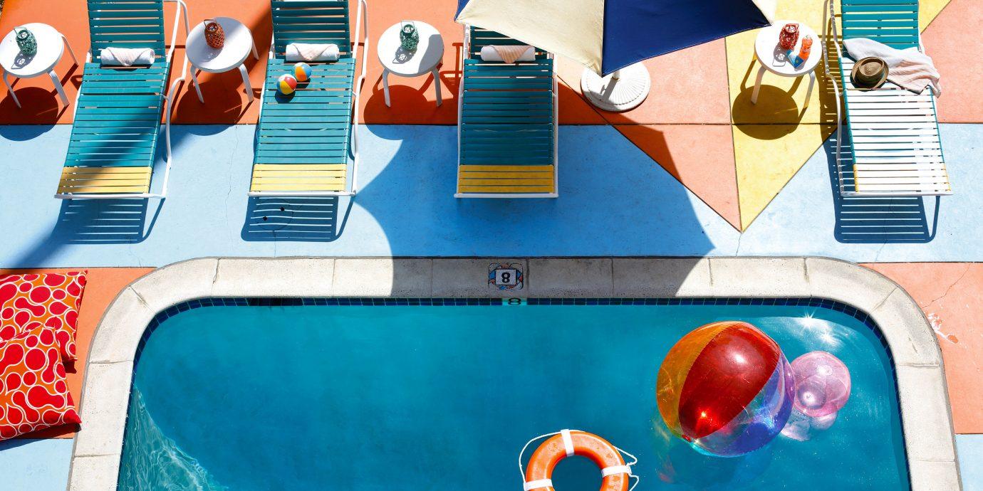 Family Travel Hip Lounge Modern Pool Trip Ideas color blue art Play illustration