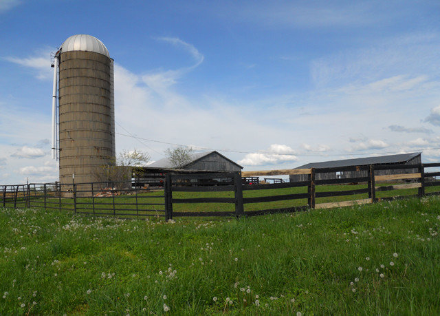 grass sky building transport field rural area Farm tower outdoor structure wind lush day