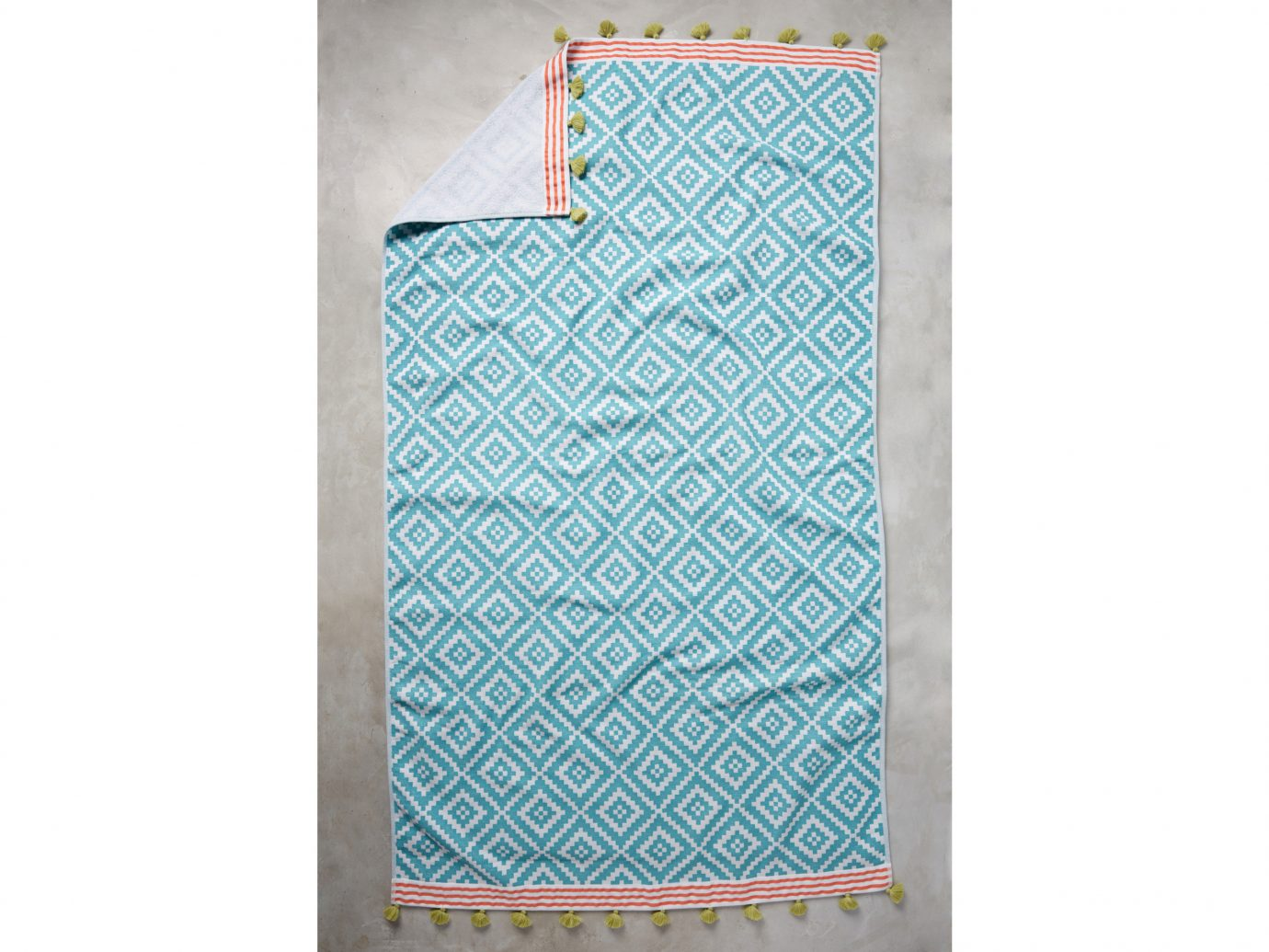 Style + Design textile turquoise kitchen towel product material font rectangle linens pattern
