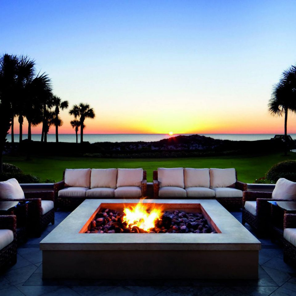 Firepit Hotels Lounge Sunset sky lighting evening swimming pool home landscape lighting dusk