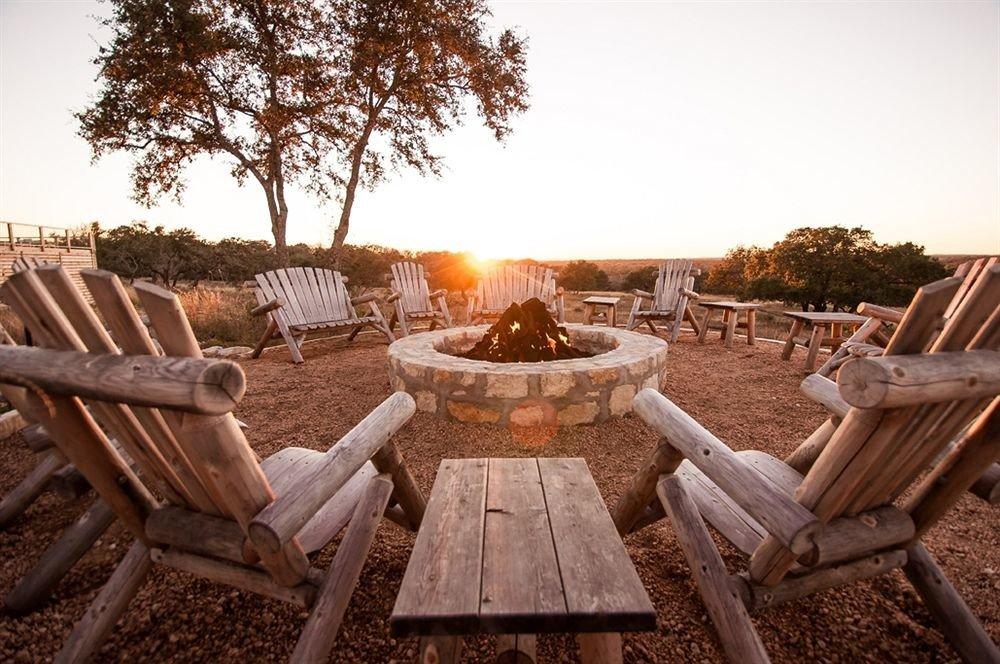 Firepit Inn Rustic sky ground chair seat wooden Picnic backyard screenshot outdoor structure Resort