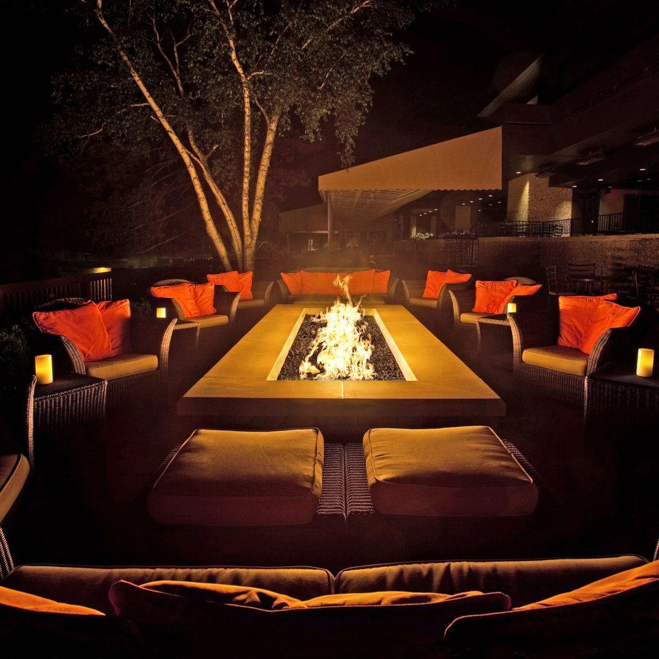Firepit Lounge Nightlife Outdoors Resort light night stage lighting evening nightclub theatre dark