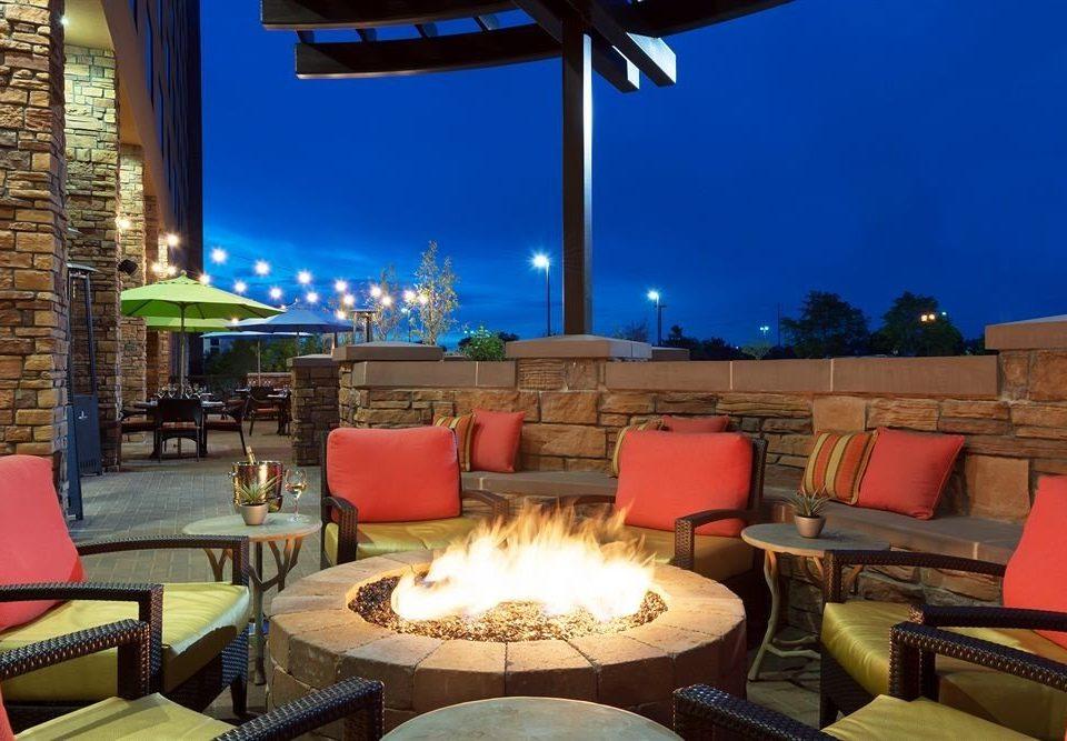 Firepit Lounge Nightlife Resort Rooftop property restaurant lighting Villa hacienda