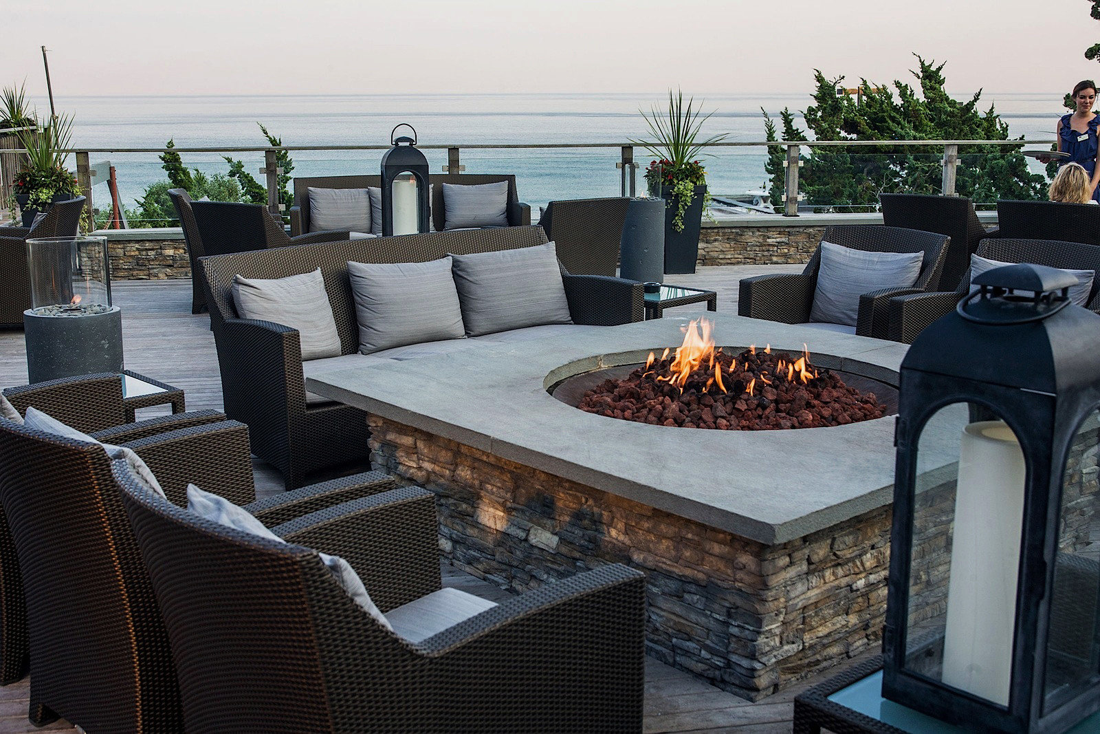 Firepit Resort Trip Ideas sky property chair home outdoor structure living room Patio cottage Villa set