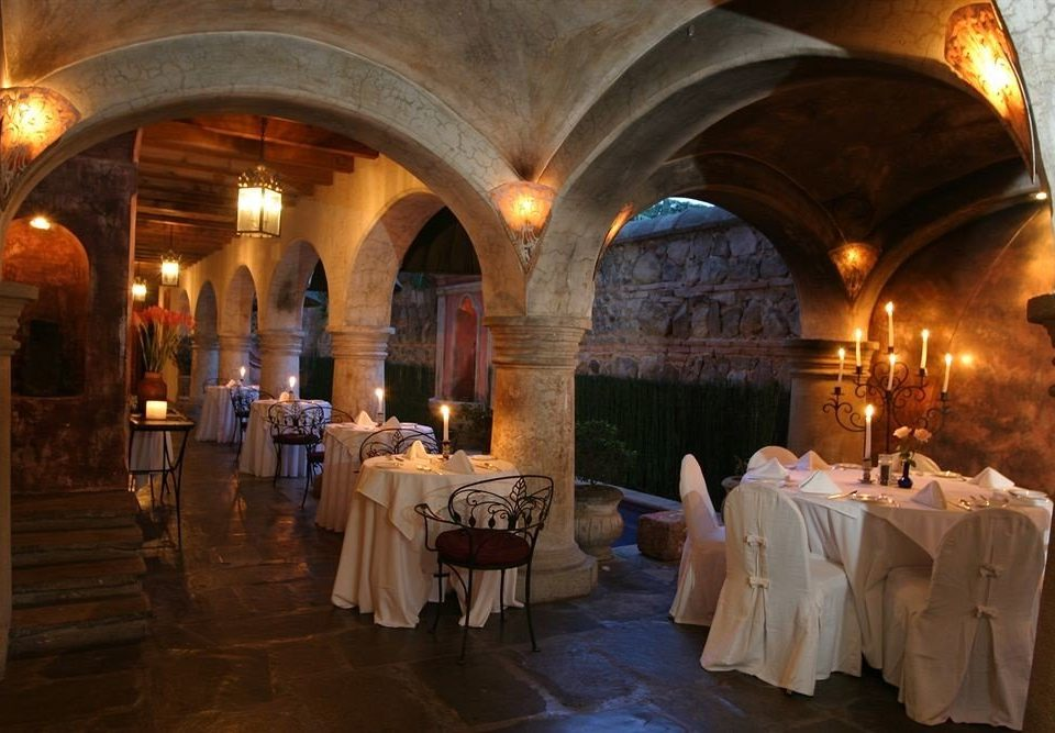 building aisle Fireplace function hall ceremony restaurant ancient history chapel palace hacienda ballroom stone