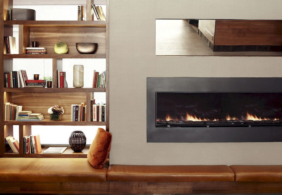 hearth Fireplace living room hardwood shelf home cabinetry shelving
