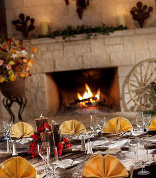 food Fireplace cluttered