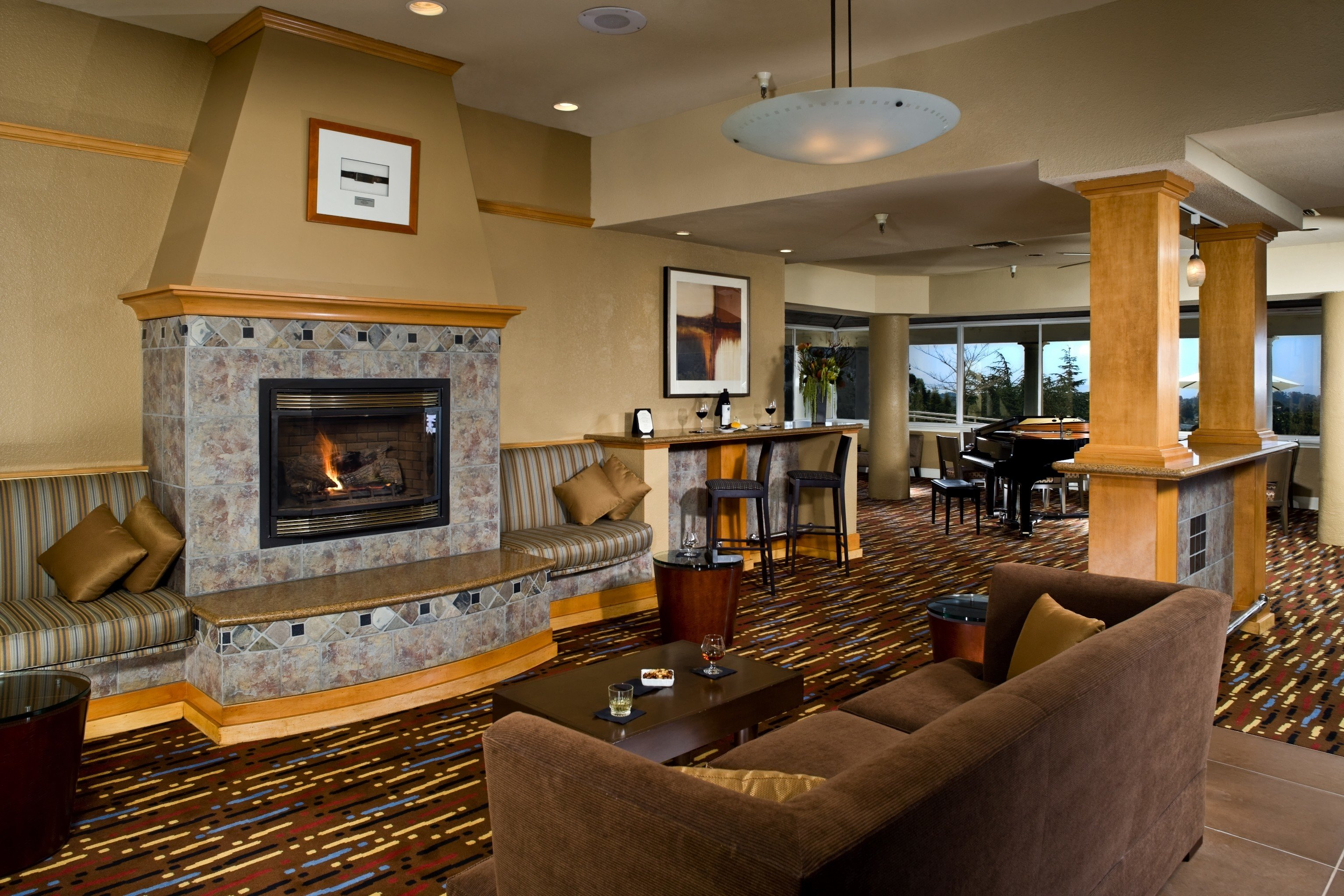 property living room home hardwood Fireplace recreation room cottage condominium mansion leather
