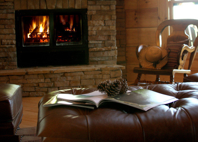Fireplace sofa fire living room hearth home hardwood cottage leather stone
