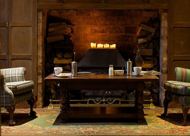 Fireplace hearth living room home recreation room cottage screenshot
