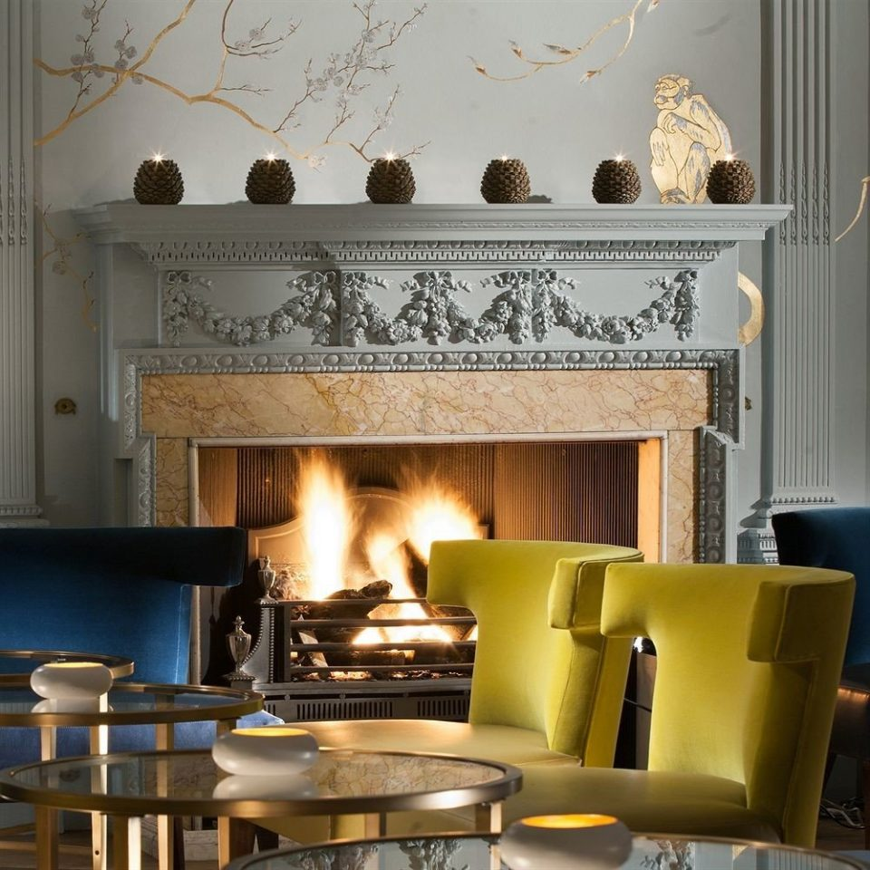 Fireplace hearth living room home lighting cuisine