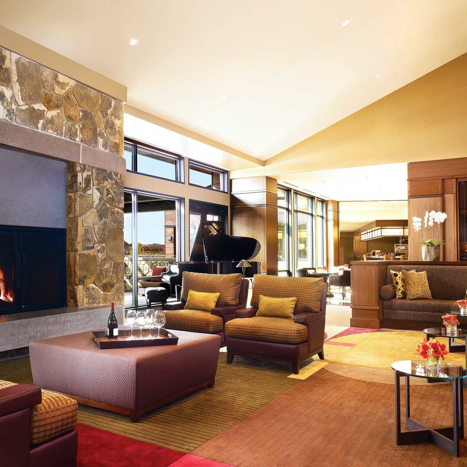 Fireplace Food + Drink Hotels Luxury Modern Scenic views living room property condominium home hardwood Suite Lobby Villa