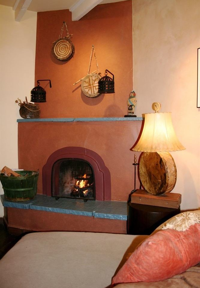 hearth Fireplace living room house home leather