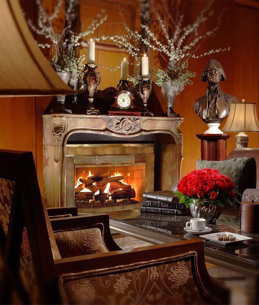 Fireplace living room home hearth lighting stone