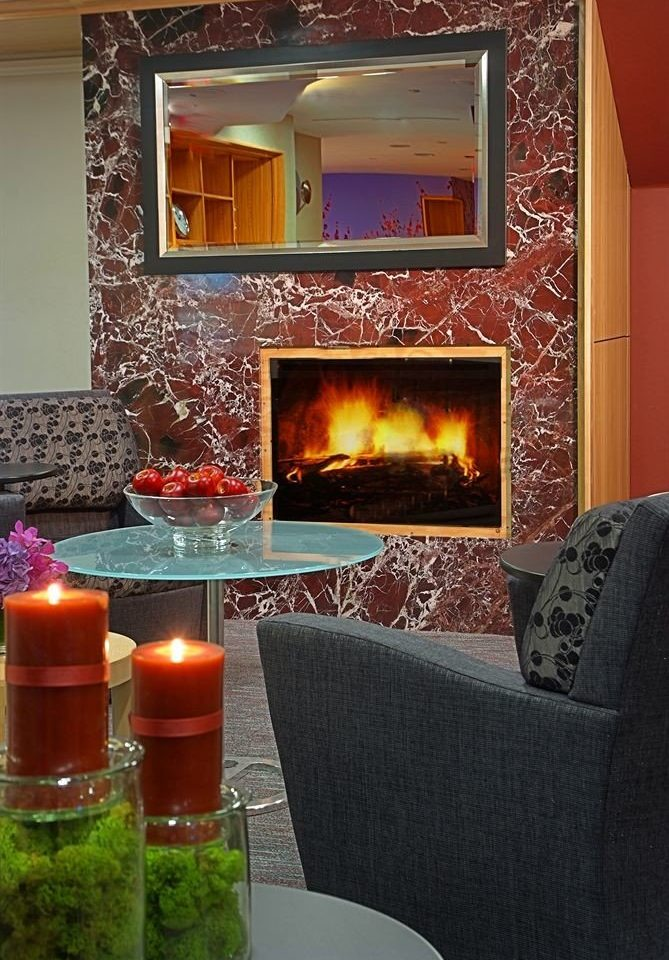 living room Fireplace hearth home lighting