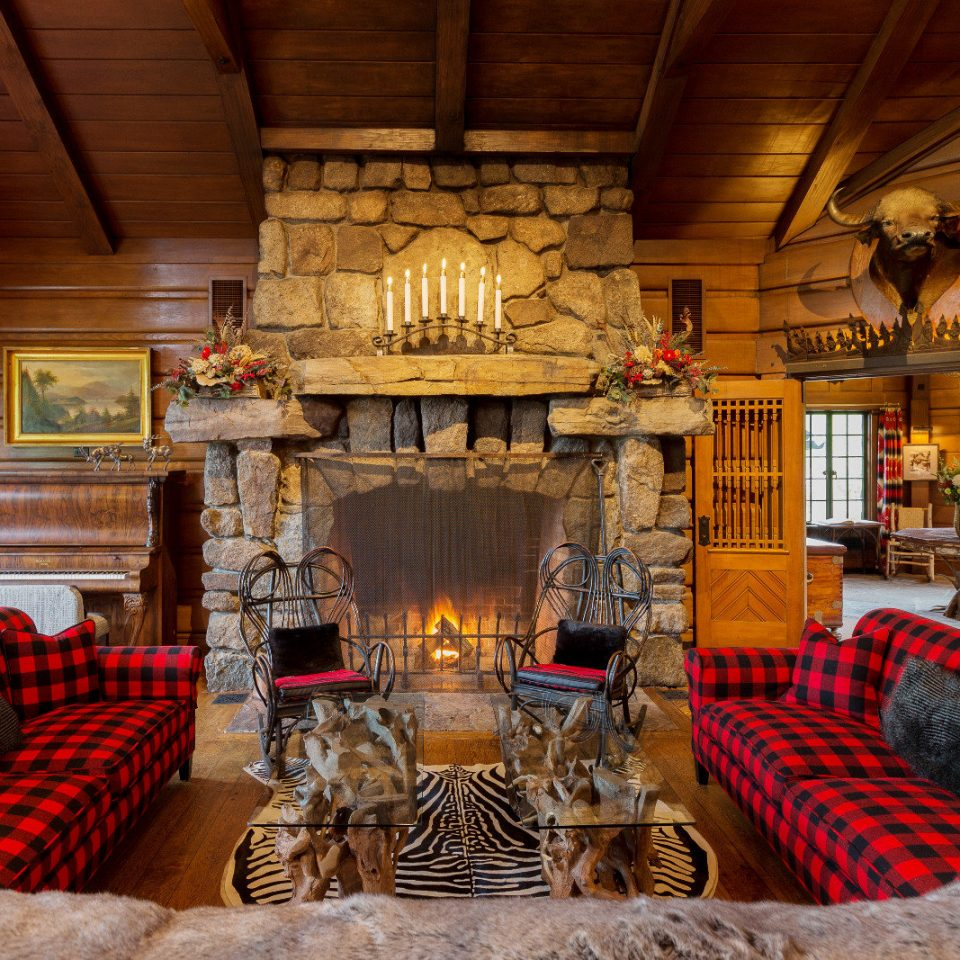 living room home Fireplace log cabin hearth