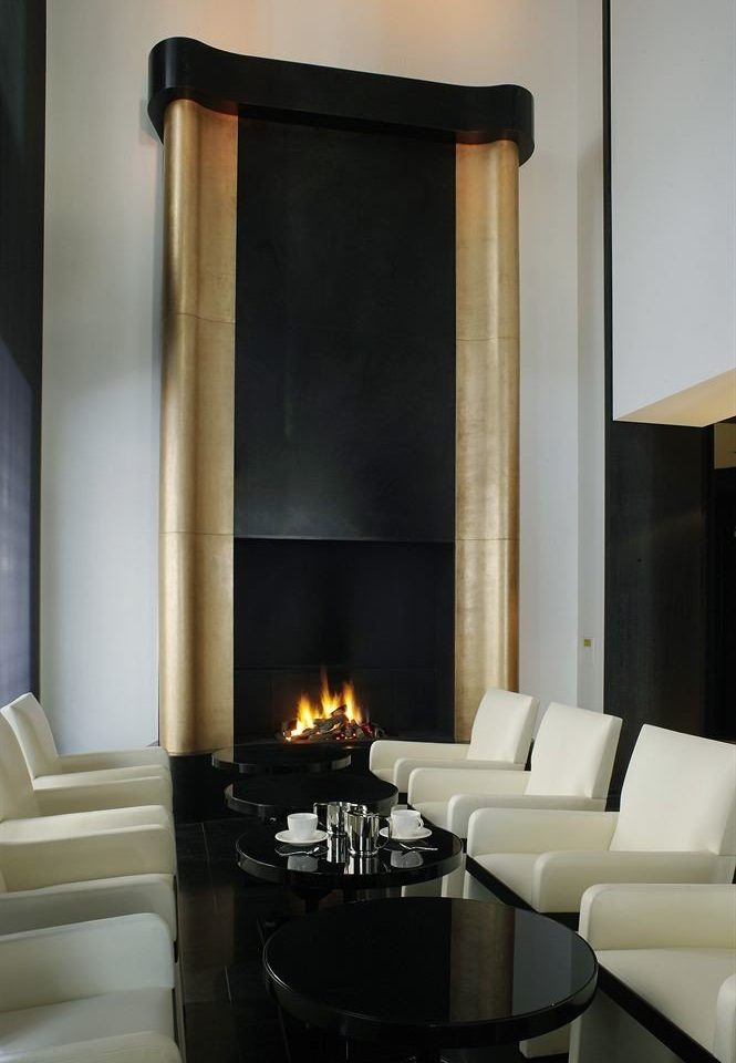 Fireplace hearth living room lighting