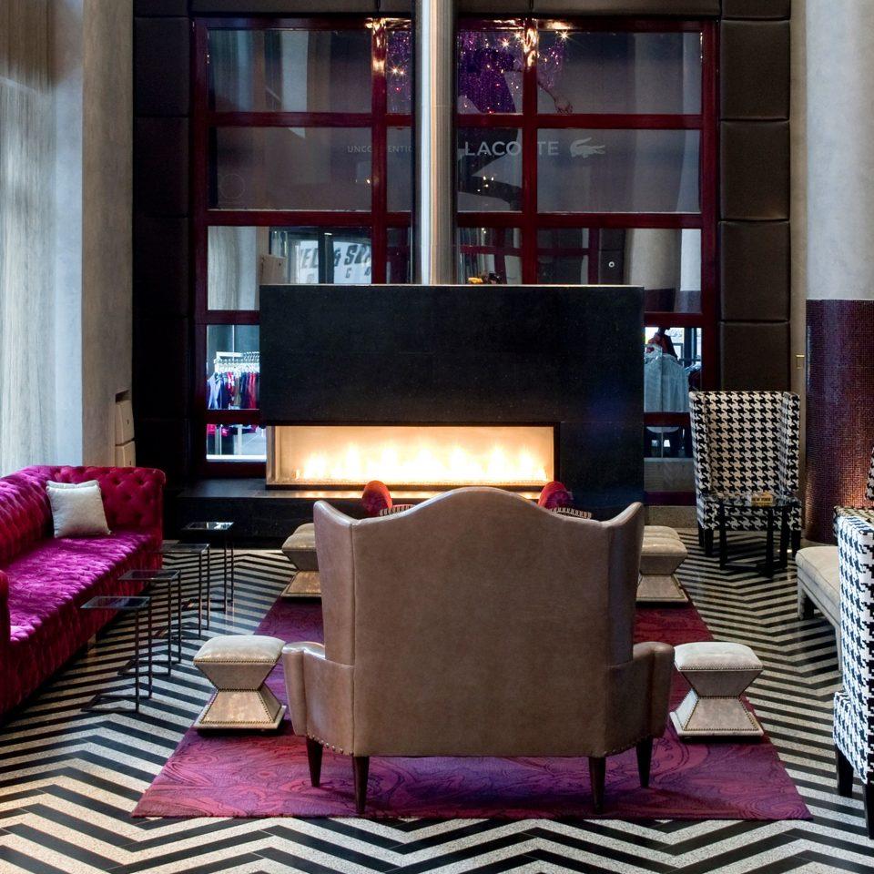 Fireplace Hip Lobby Modern living room property chair home condominium
