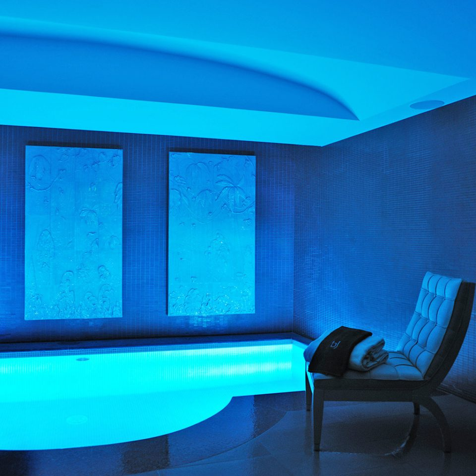 Fireplace Hip Lounge Luxury Modern color blue swimming pool light lighting daylighting