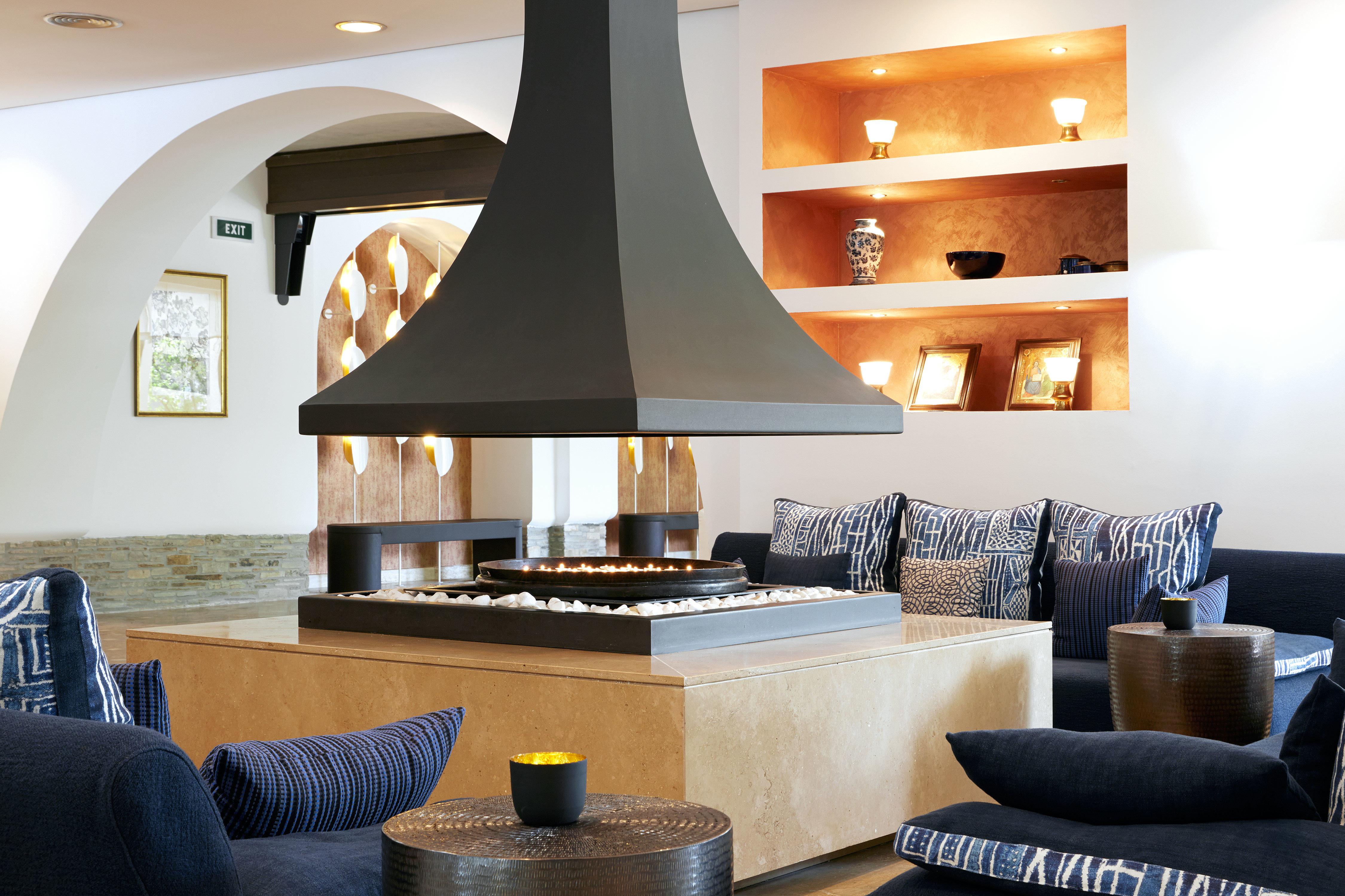 Hip Lounge Luxury Modern living room property home house hearth Fireplace lighting seat sofa