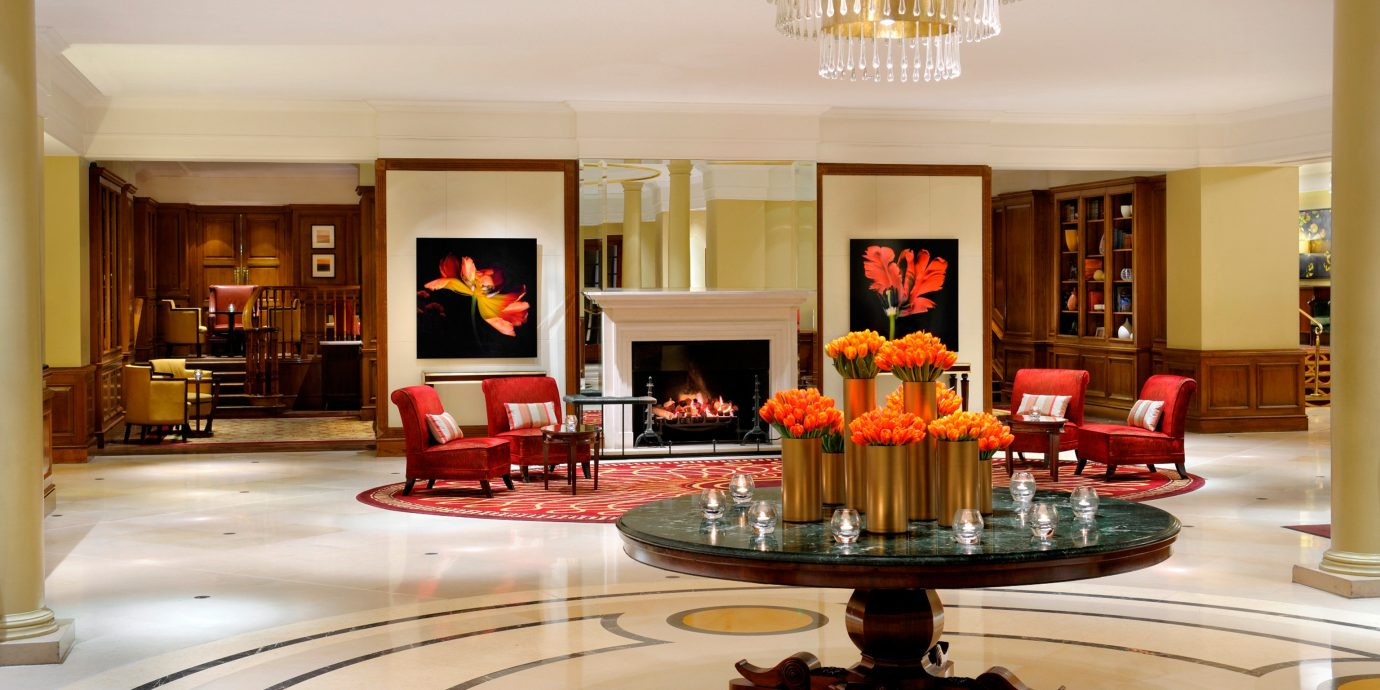 Fireplace Historic Lobby Lounge Luxury Modern living room property home hardwood mansion recreation room cabinetry Kitchen